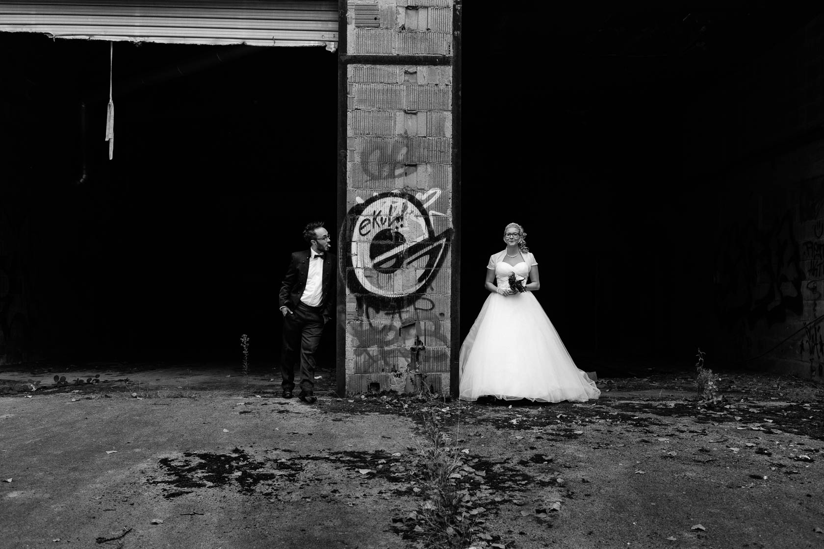 After Wedding Shoot Eileen und Christoph Spass muss sein Alte Fabrik Raum Mannheim