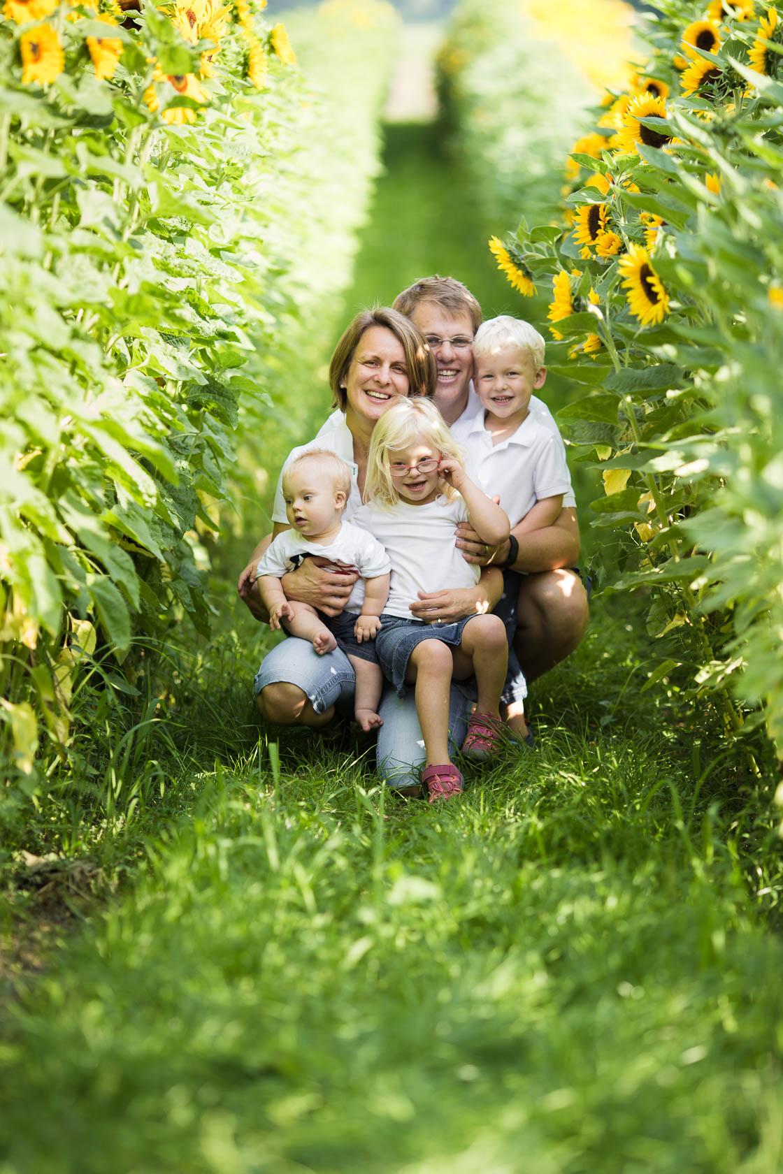 Familienfotos von Thea Philip Johannes Verena und Peter bei Speyer