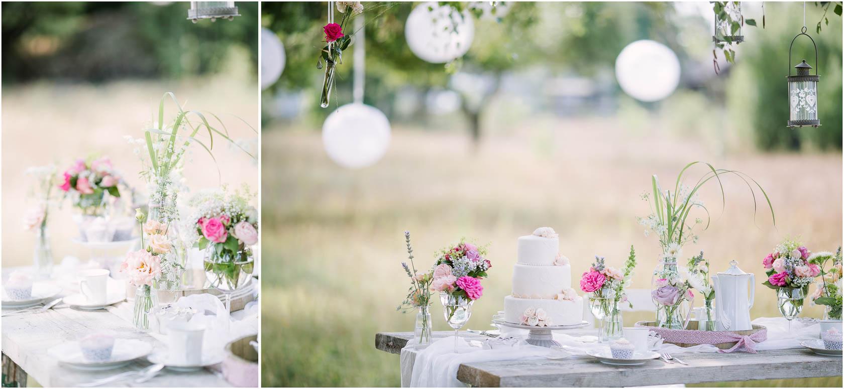 Styled Wedding Shoot Bridal Inspiration DIY und Pastell Torte und Tischdekoration