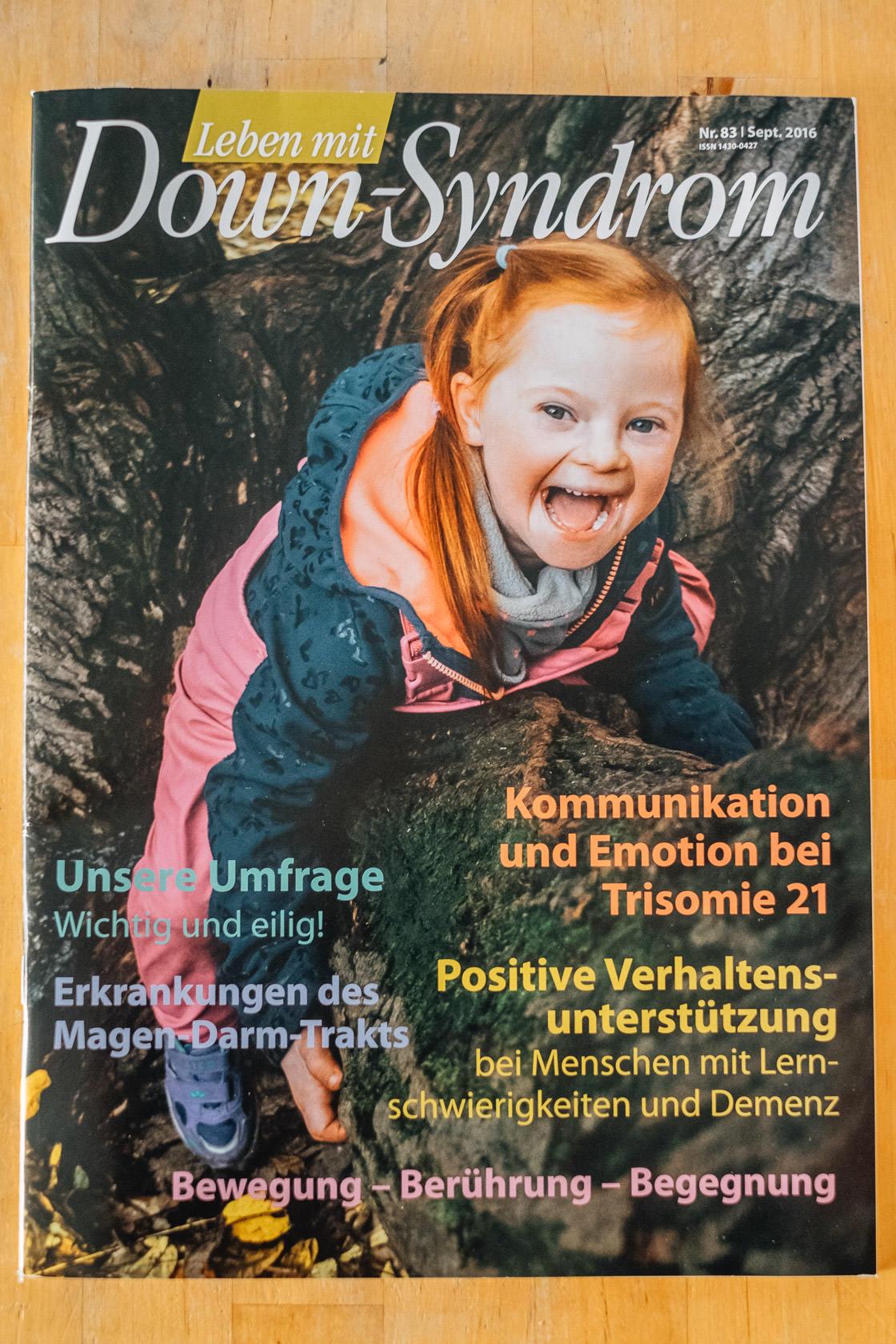 Das erste Zeitschriftencover Leben mit Downsyndrom