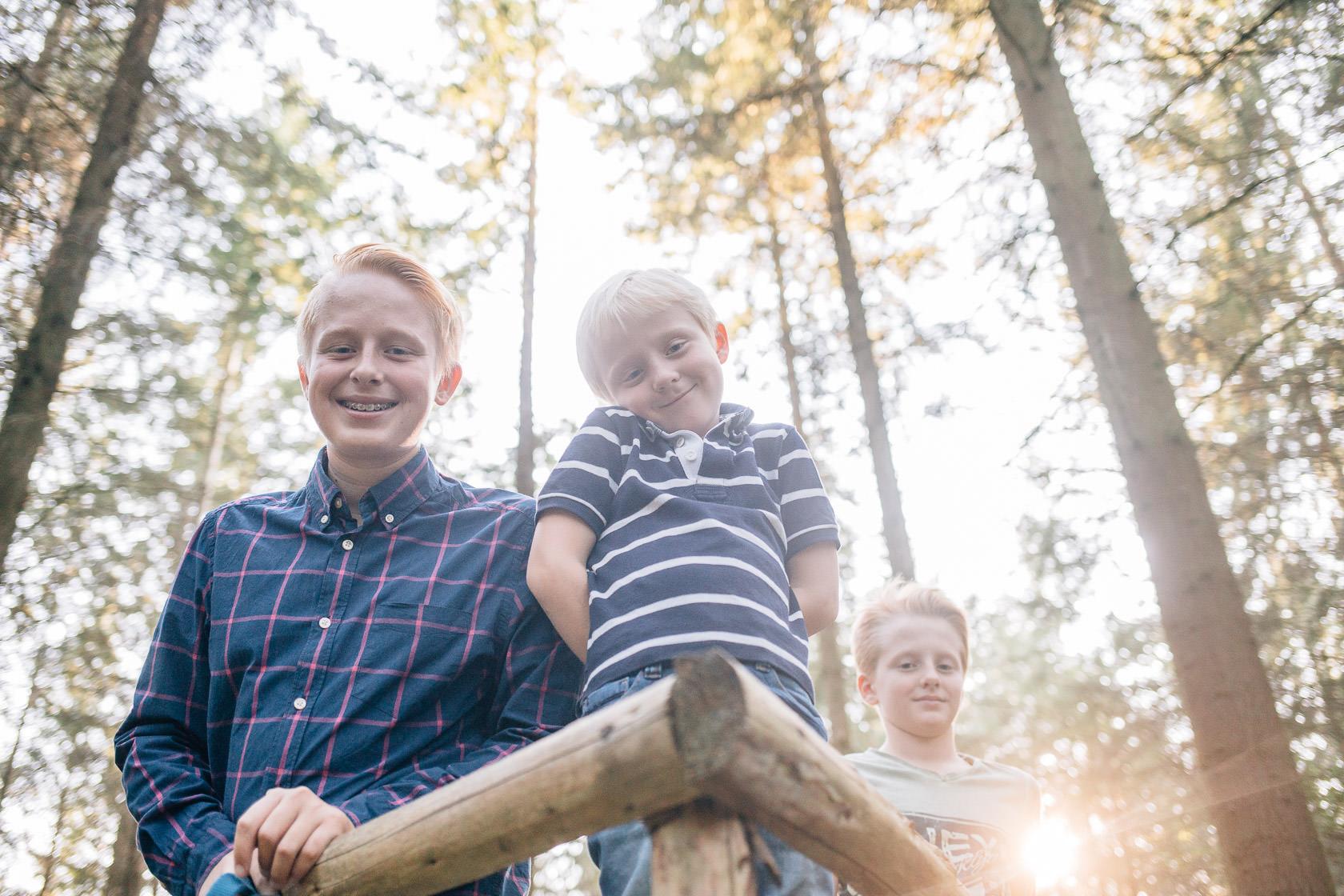 Familienfotos im Herbst in Waghäusel Familie Anders Ungewöhnliche Perspektive Spezielle Perspektive Besonders