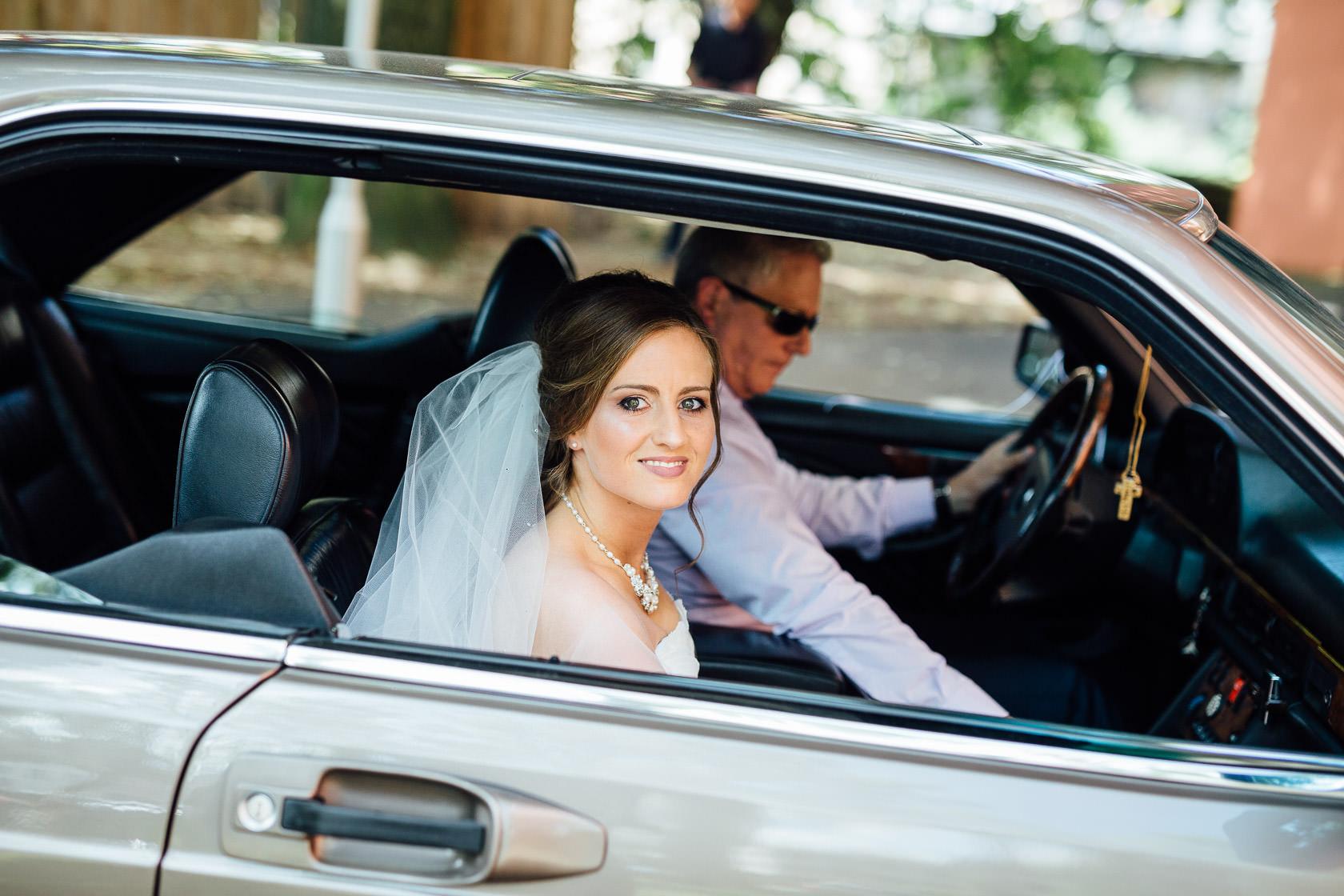 Hochzeit von Carmen und Dirk in Bad Kreuznach Trauung in der Pauluskirche Ankunft der Braut