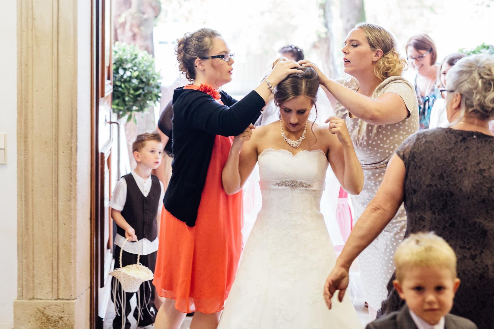 Hochzeit Carmen und Dirk in Bad Kreuznach Trauung in der Pauluskirche Ankunft der Braut