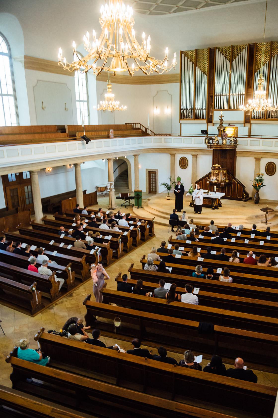 Hochzeit von Carmen und Dirk in Bad Kreuznach Trauung in der Pauluskirche