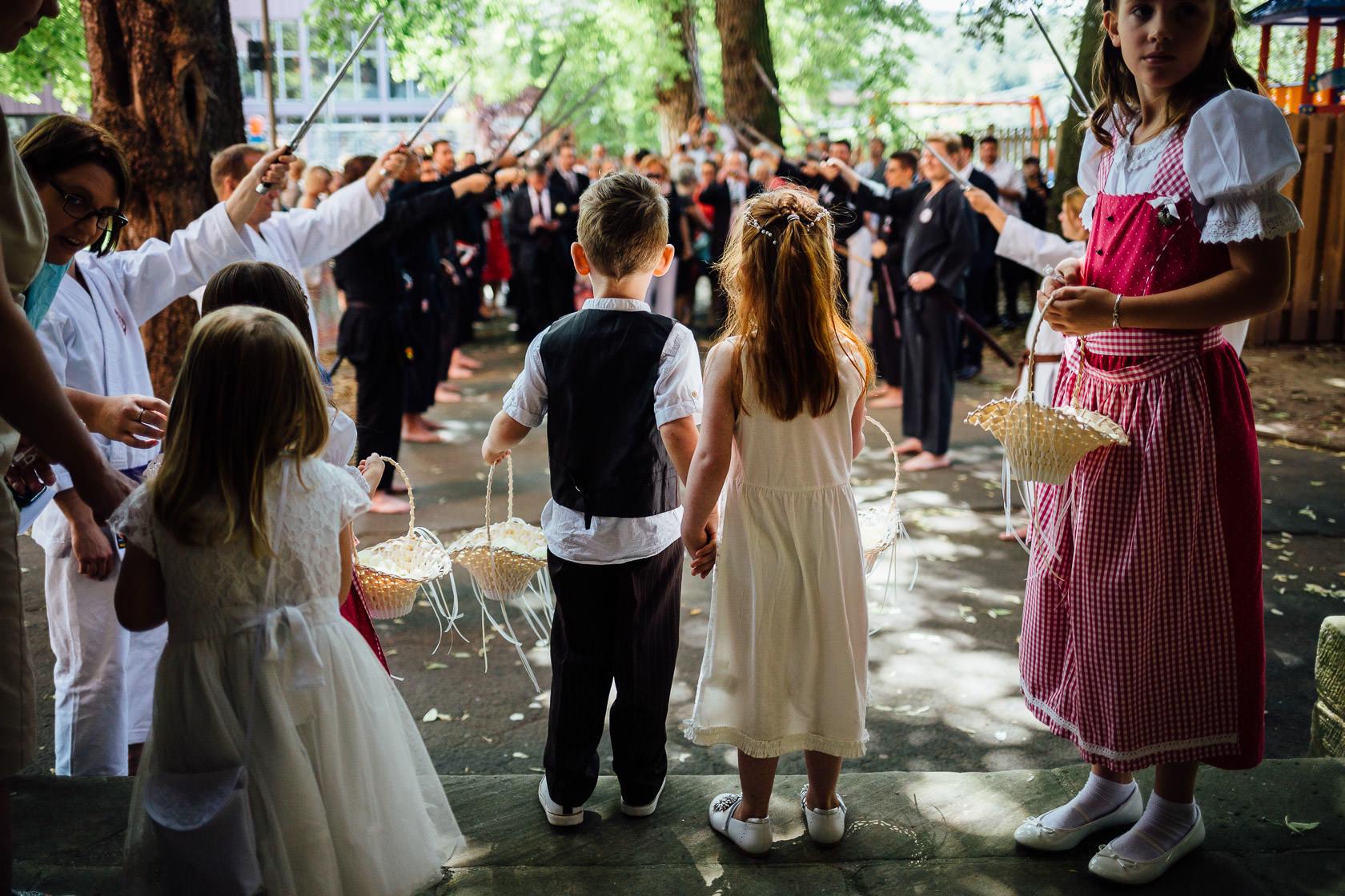 Hochzeit von Carmen und Dirk in Bad Kreuznach Trauung in der Ausmarsch
