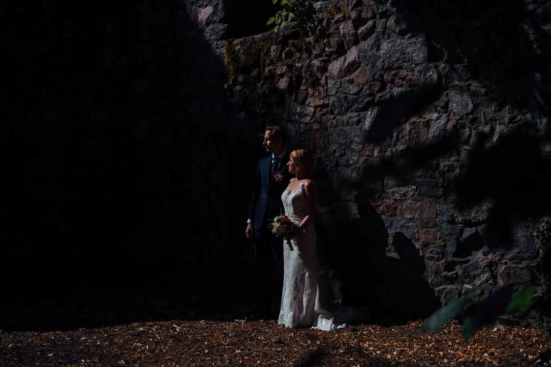 Hochzeitsfotograf Odenwald Burgruine Rodenstein Janina und Henrik Paarfotos auf der Burgruine