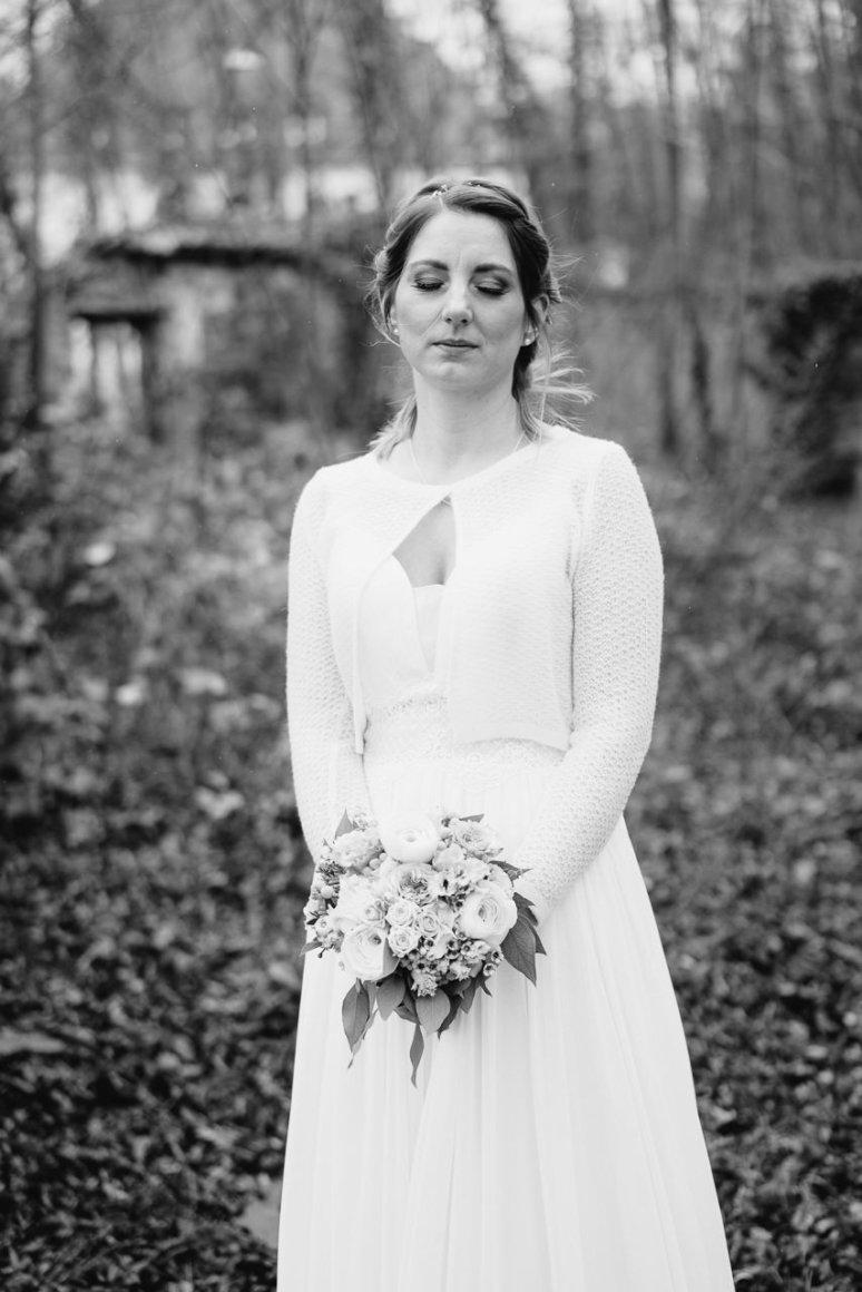 Hochzeitsfotograf Speyer Dezemberhochzeit Eremitage Waghaeusel Hochzeitsfotos Brautpaar Portraits Hochzeitsportrait