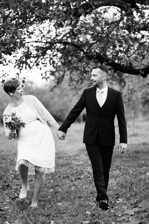 Hochzeitsfotograf Waghaeusel Hochzeitsfotos als Familie Anna und Andreas Herbstfotos Herbsthochzeit Familienfotos Trauung